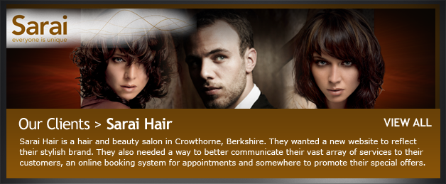 Client website - Sarai Hair